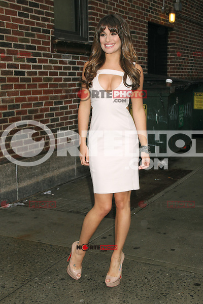 May 21, 2012 Lea Michele at the Late Show with David Letterman to talk about her Fox TV series Glee in New York City. Credit: RW/MediaPunch Inc.