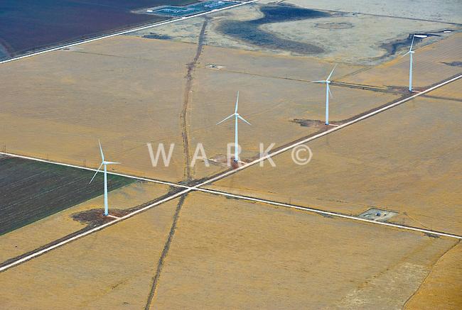 wind towers in farmland