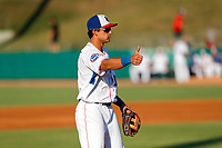 Tennessee Smokies third baseman Chase Strumpf (19) on defense against the Chattanooga Lookouts at Smokies Stadium on June 18, 2021, in Kodak, Tennessee. (Danny Parker/Four Seam Images)