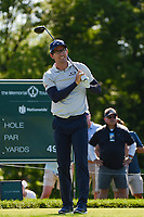 4th June 2021; Dublin, Ohio, USA; Dylan Frittelli (RSA) watches his tee shot on 1 during the Memorial Tournament Rd2 at Muirfield Village Golf Club on June 4, 2021 in Dublin, Ohio.