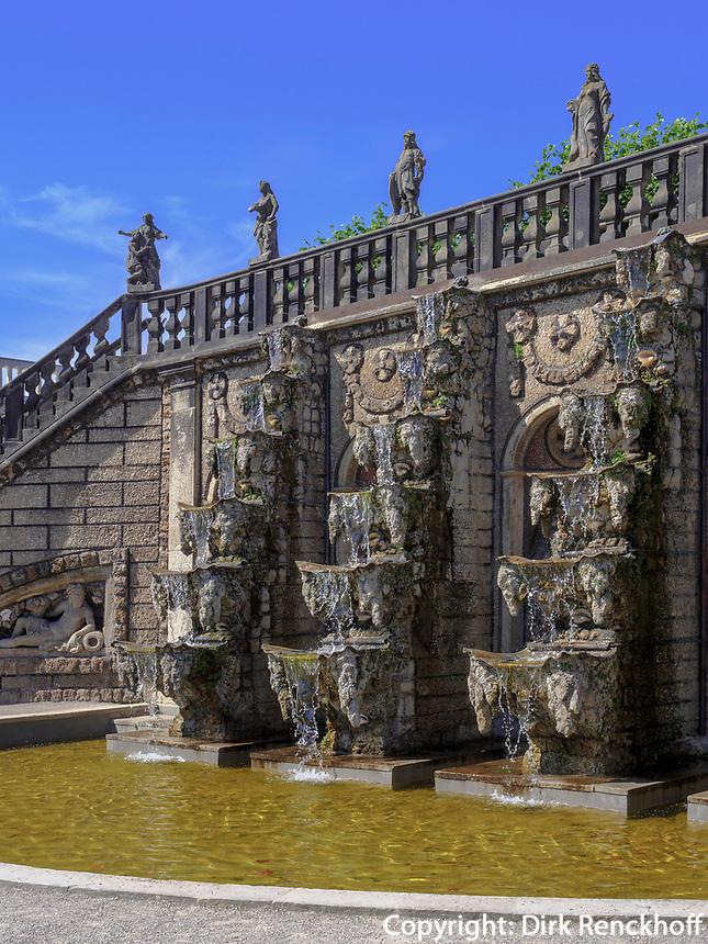 Kaskade, Großer Garten der barocken Herrenhäuser Gärten, Hannover, Niedersachsen, Deutschland, Europa<br /> Cascade, Great Garden of baroque Herrenhausen Gardens, Hanover, Lower Saxony, Germany, Europe