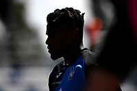 The silhouette of Duvan Zapata of Atalanta BC is seen during the warm up prior to the Serie A football match between US Sassuolo and Atalanta BC at Citta del Tricolore stadium in Reggio Emilia (Italy), May 2nd 2021. Photo Andrea Staccioli / Insidefoto