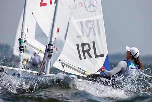 Tokyo bound Annalise Murphy had a tough week atMedemblik in the 58-boat ILCA 6 class
