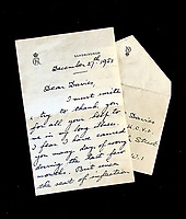 Poignant letter by King George VI written shortly before his death has emerged for sale.