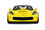 Car photography straight front view of a 2018 Chevrolet Corvette Z06-3LZ 2 Door Convertible Front View