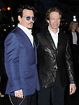 "Johnny Depp and Jerry Bruckheimer attends The L.A. Premiere of Alcon Entertainment's ""TRANSCENDENCE"" held at The Regency Village Theater in Westwood, California on April 10,2014                                                                               © 2014Hollywood Press Agency"