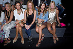 03.09.2012. Celebrities attending the TCN  fashion show during the Mercedes-Benz Fashion Week Madrid Spring/Summer 2013 at Ifema. In the image (L-R) Monica de Tomas, Olivia de Borbon, Ursula Corbero and Cristina Tosio (Alterphotos/Marta Gonzalez)