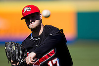 Dustin Quattrocchi (17) of the Southern Illinois University- Edwardsville Cougars warms up prior to a game against the Missouri State Bears at  Hammons Field on March 10, 2012 in Springfield, Missouri. (David Welker / Four Seam Images)