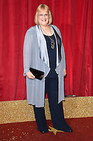 Annie Wallace<br /> arrives for the British Soap Awards 2016 at Hackney Empire, London.<br /> <br /> <br /> ©Ash Knotek  D3124  28/05/2016