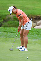 16th July 2021, Midland, MI, USA;  Nasa Hataoka (JPN) sinks her birdie putt on 14 during the Dow Great Lakes Bay Invitational Rd3 at Midland Country Club on July 16, 2021 in Midland, Michigan.