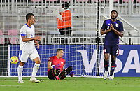 FORT LAUDERDALE, FL - DECEMBER 09: Mark McKenzie #4 of the United States celebrates during a game between El Salvador and USMNT at Inter Miami CF Stadium on December 09, 2020 in Fort Lauderdale, Florida.