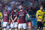 AC Milan Midfielder Mateo Musacchio (C) reacts during the International Champions Cup 2017 match between AC Milan vs Borussia Dortmund at University Town Sports Centre Stadium on July 18, 2017 in Guangzhou, China. Photo by Marcio Rodrigo Machado / Power Sport Images