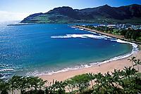 Kalapaki beach, Nawiliwili harbor, Kauai