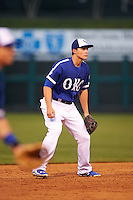 Oklahoma City Dodgers shortstop Corey Seager (18) during a game against the Fresno Grizzles on June 1, 2015 at Chickasaw Bricktown Ballpark in Oklahoma City, Oklahoma.  Fresno defeated Oklahoma City 14-1.  (Mike Janes/Four Seam Images)