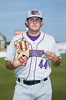Winston-Salem Dash pitcher Konnor Pilkington (44) poses for a photo prior to the game against the Down East Wood Ducks at Grainger Stadium Field on May 17, 2019 in Kinston, North Carolina. The Dash defeated the Wood Ducks 8-2. (Brian Westerholt/Four Seam Images)