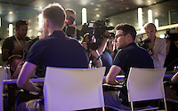 (as usual) lot's of media attention for Mark Cavendish (GBR/Etixx-QuickStep) at the 2015 pre-Tour de France press conference in Utrecht
