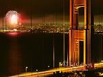 Fourth of July, Fireworks, Golden Gate Bridge, San Francisco, California