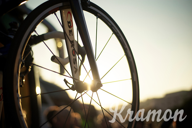 Milan-San Remo 2012.raceday.sundown in San Remo