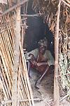 Batwa Pygmy In Hut