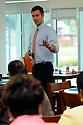 John White, Louisiana superintendent of education, talks to Orleans Parish School teachers..