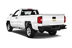 Car pictures of rear three quarter view of 2018 Chevrolet Silverado 1500 1WT Regular Cab Long Box 3 Door Pick-up Angular Rear
