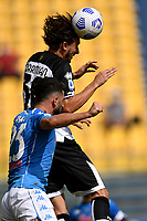 Matteo Darmian of Parma Calcio 1913 and Elseid Hysaj of SSC Napoli compete for the ball during the Serie A football match between Parma Calcio 1913 and SSC Napoli at Ennio Tardini stadium in Parma (Italy), September 20th, 2020. Photo Andrea Staccioli / Insidefoto