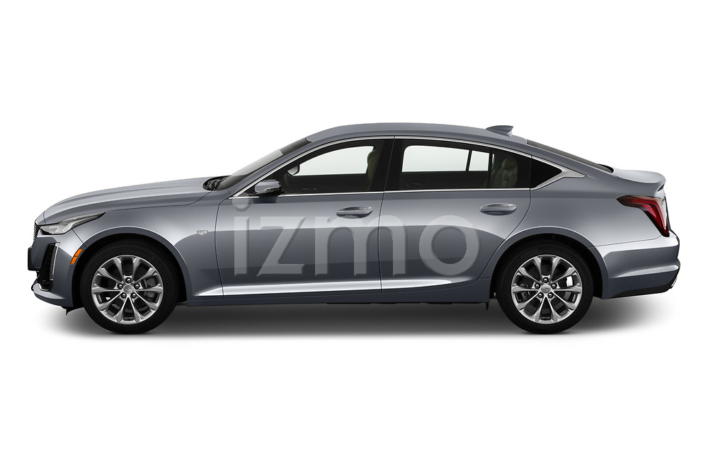 Car Driver side profile view of a 2020 Cadillac CT5 Premium-Luxury 4 Door Sedan Side View