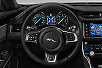 Car pictures of steering wheel view of a 2017 Jaguar XF R-Sport 4 Door Sedan Steering Wheel