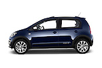 Car Driver side profile view of a 2014 Volkswagen up! Cross up! 5 Door Hatchback 2WD Side View