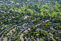 Pueblo, Colorado.  Sunset Park area with City Park golf course. Elmwood Golf Course. May 2015.