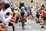 White Jersey Egan Bernal (COL) Team Ineos on the Col d'Izoard during Stage 18 of the 2019 Tour de France running 208km from Embrun to Valloire, France. 25th July 2019.<br /> Picture: ASO/Alex Broadway | Cyclefile<br /> All photos usage must carry mandatory copyright credit (© Cyclefile | ASO/Alex Broadway)