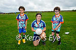 Enjoying the Cúl Camps in Churchill on Tuesday, l to r: Layton Murphy, Katie Dwyer (Coach) and Morgan O'Driscoll.