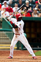 Jermaine Curtis (22) of the Springfield Cardinals at bat during a game against the Arkansas Travelers at Hammons Field on May 8, 2012 in Springfield, Missouri. (David Welker/ Four Seam Images)