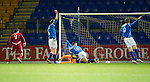 St Johnstone v Aberdeen...13.12.11   SPL .Scott Vernon scores for Aberdeen.Picture by Graeme Hart..Copyright Perthshire Picture Agency.Tel: 01738 623350  Mobile: 07990 594431