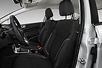 Front seat view of 2017 Ford Fiesta SE 5 Door Hatchback Front Seat  car photos