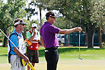 PALM BEACH GARDENS, FL. - Robert Allenby reads the green during Round Two play at the 2009 Honda Classic - PGA National Resort and Spa in Palm Beach Gardens, FL. on March 6, 2009.