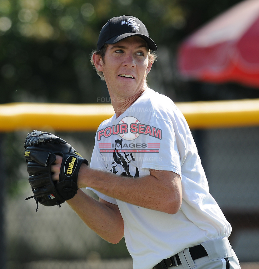 July 22, 2009: RHP Matt Heidenreich (48) of the Bristol White Sox, rookie Appalachian League affiliate of the Chicago White Sox, prior to a game at Burlington Athletic Stadium in Burlington, N.C. Photo by: Tom Priddy/Four Seam Images