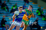 David Clifford, Kerry in action against Brendan McCole, Donegal during the Allianz Football League Division 1 Round 7 match between Kerry and Donegal at Austin Stack Park in Tralee on Saturday.