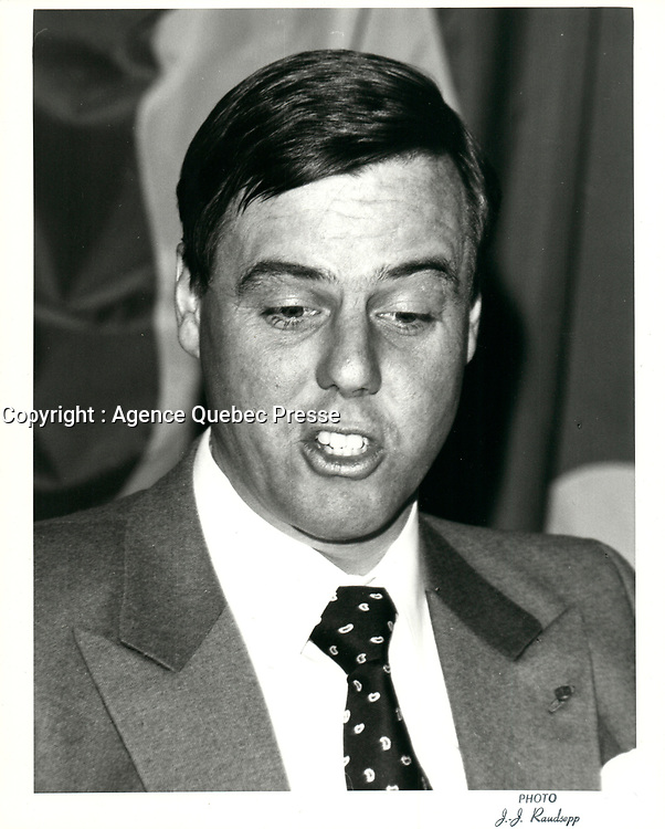 Frederick S Eaton<br /> ' president et CEO, T.EATON Co. Ltd.<br /> , le 26 janvier 1981,<br /> <br /> PHOTO : Agence Quebec Presse <br /> <br /> <br /> <br /> <br /> <br /> PHOTO :   Agence Quebec Presse