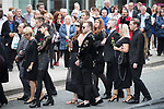 © Joel Goodman - 07973 332324 . 30/06/2017 . Stockport , UK . Mourners outside the Town Hall . The funeral of Martyn Hett at Stockport Town Hall . Martyn Hett was 29 years old when he was one of 22 people killed on 22 May 2017 in a murderous terrorist bombing committed by Salman Abedi, after an Ariana Grande concert at the Manchester Arena . Photo credit : Joel Goodman