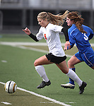 Images from the girls soccer zone championship between Carson and Douglas at Damonte Ranch High School in Reno, Nev. on Saturday, Nov. 5, 2011 . Carson won 2-1..Photo by Cathleen Allison.