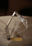 """The Award presented to Victoria Traube during The """"Mr. Abbott"""" Award 2019 at The Metropolitan Club on 3/25/2019 in New York City."""