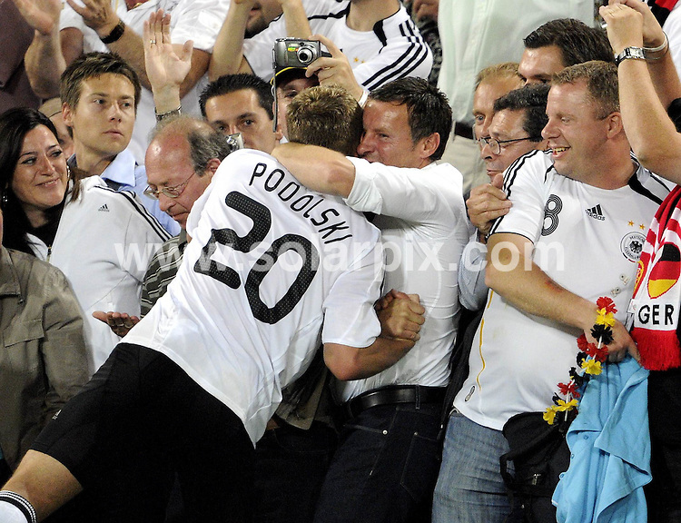 **ALL ROUND PICTURES FROM SOLARPIX.COM**.**SYNDICATION RIGHTS FOR UK AND SPAIN ONLY**.Euro 2008 European Football Championship being held in Austria/Switzerland. Quarter Final, match 25, Portugal vs Germany, at the St. Jakob Park Stadium, Basel, Switzerland. 19th June 2008 ..This pic: Lukas Podolski..JOB REF: 6690 CPR/Torsten Silv.DATE: 19_06_2008.**MUST CREDIT SOLARPIX.COM OR DOUBLE FEE WILL BE CHARGED* *UNDER NO CIRCUMSTANCES IS THIS IMAGE TO BE REPRODUCED FOR ANY ONLINE EDITION WITHOUT PRIOR PERMISSION*