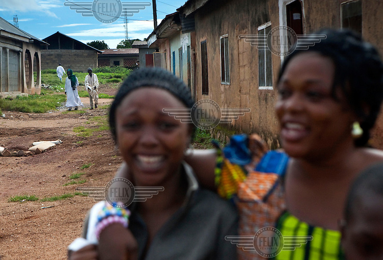 Women in the Dutse Uku district of the city, mostly inhabited by Muslims. Continued violence between Christians and Muslims has torn the city of Jos apart.