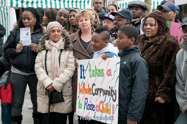 Community Rally organised by the Tell It Parents' Action Group to launch a campaign aimed at addressing the problem of gang violence in North Westminster.