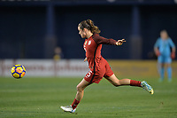 San Diego, CA - Sunday January 21, 2018: Kelley O'Hara prior to an international friendly between the women's national teams of the United States (USA) and Denmark (DEN) at SDCCU Stadium.