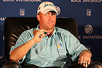 February 06,2009 La Jolla, CA : John Rollins  during a press conference after the 2nd round of the Buick Invitational held at Torrey Pines Golf Course. Rollins is one stroke behind Camilo Villegas