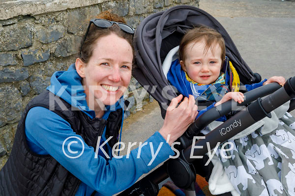 Little Patrick and Rosie Hanley enjoying a stroll in Ballybunion on Easter Sunday.