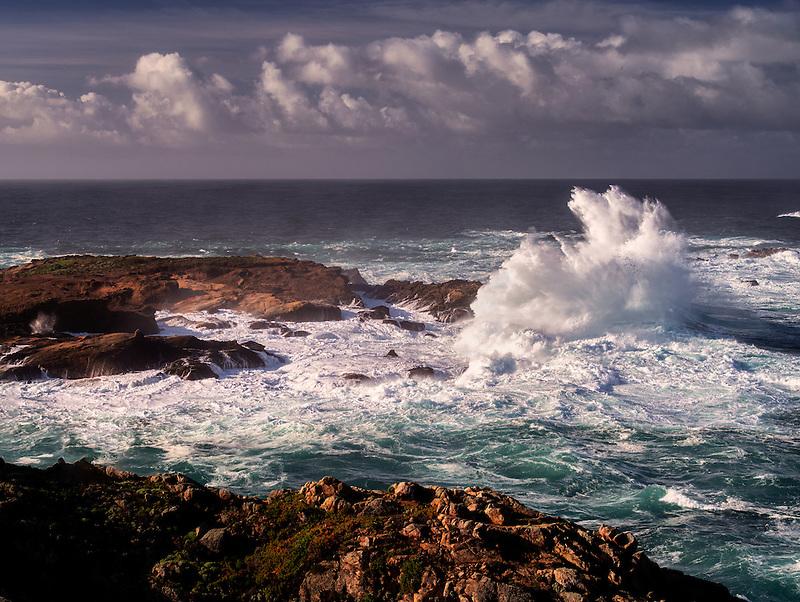 Coastline with crashing waves. Point Lobos State Reserve. California