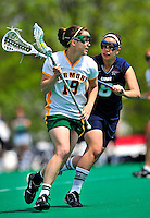 1 May 2010: University of Vermont Catamount midfielder Sara Buxton, a Senior from Northfield, IL, in action against the University of New Hampshire Wildcats at Moulton Winder Field in Burlington, Vermont. The Lady Catamounts fell to the visiting Wildcats 18-10 in the last game of the 2010 regular season. Mandatory Photo Credit: Ed Wolfstein Photo